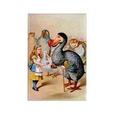 Alice and the Dodo Bird Rectangle Magnet
