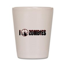 I Kill Zombies Shot Glass