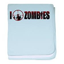 I Kill Zombies baby blanket