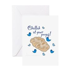 Challah at your peeps! Greeting Card