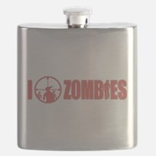 I Love Zombies Flask