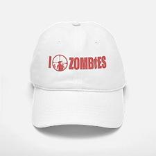 I Love Zombies Baseball Baseball Cap