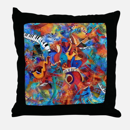 Jazz Musicians Blues Band Throw Pillow