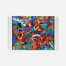 Jazz Musicians Blues Band Rectangle Magnet