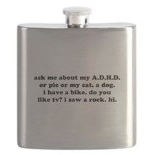 Funny Ask Me About My ADHD Flask