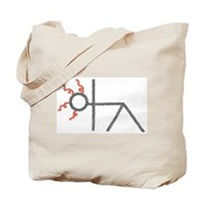 triangle yoga pose - ArtinJoy Tote Bag
