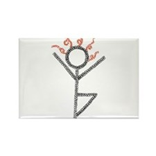 tree yoga pose - ArtinJoy Rectangle Magnet