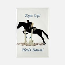 Eyes Up! Heels Down! Horse Rectangle Magnet