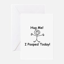 Hug Me! I Pooped Today! Greeting Cards (Pk of 20)