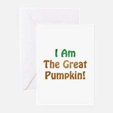 I Am The Great Pumpkin! Greeting Cards (Package of