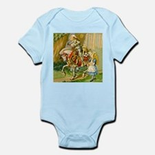 Alice Meets The White Knight Infant Bodysuit