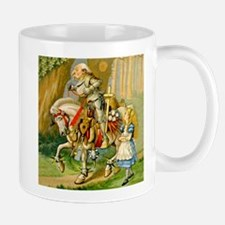 Alice Meets The White Knight Small Mugs