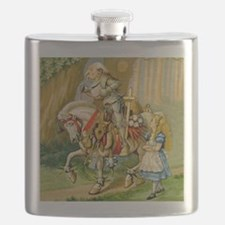 Alice Meets The White Knight Flask