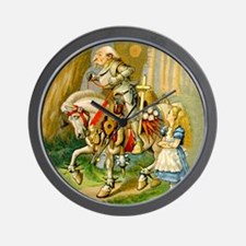 Alice Meets The White Knight Wall Clock