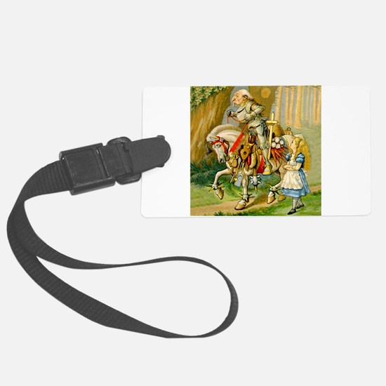 Alice Meets The White Knight Luggage Tag