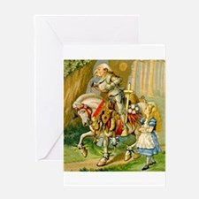 Alice Meets The White Knight Greeting Card