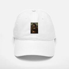 restored Mona Lisa Baseball Baseball Cap