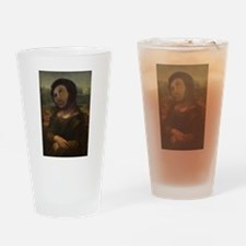 restored Mona Lisa Drinking Glass