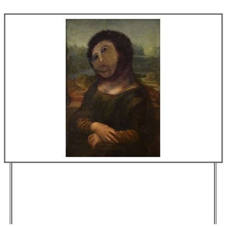 restored Mona Lisa Yard Sign