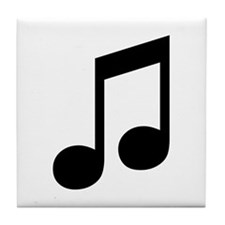 Double Eighth Note Tile Coaster