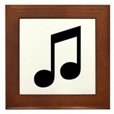 Double Eighth Note Framed Tile