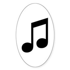 Double Eighth Note Oval Decal