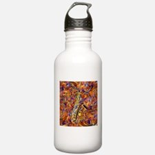 Sax In The City Jazzy Music Painting Water Bottle