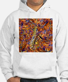 Sax In The City Jazzy Music Painting Hoodie