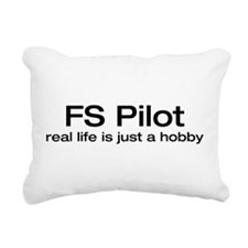 real life is just a hobby.png Rectangular Canvas P