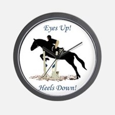 Eyes Up! Heels Down! Horse Wall Clock