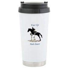 Eyes Up! Heels Down! Horse Travel Mug
