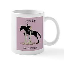 Eyes Up! Heels Down! Horse Mug