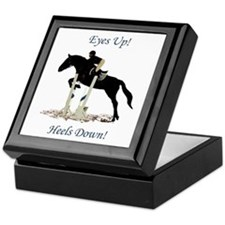 Eyes Up! Heels Down! Horse Keepsake Box