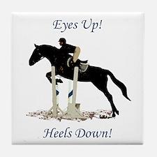Eyes Up! Heels Down! Horse Tile Coaster