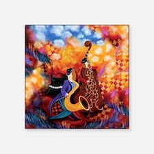 Colorful Hot Jazz Music Band Trio Square Sticker 3