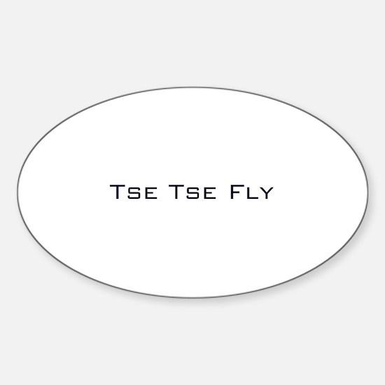 Tse Tse Fly Oval Decal
