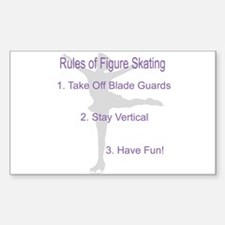 rules of Figure skating Rectangle Decal