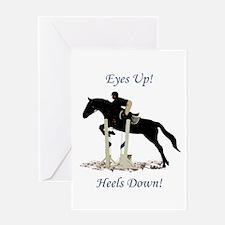 Eyes Up! Heels Down! Horse Greeting Card
