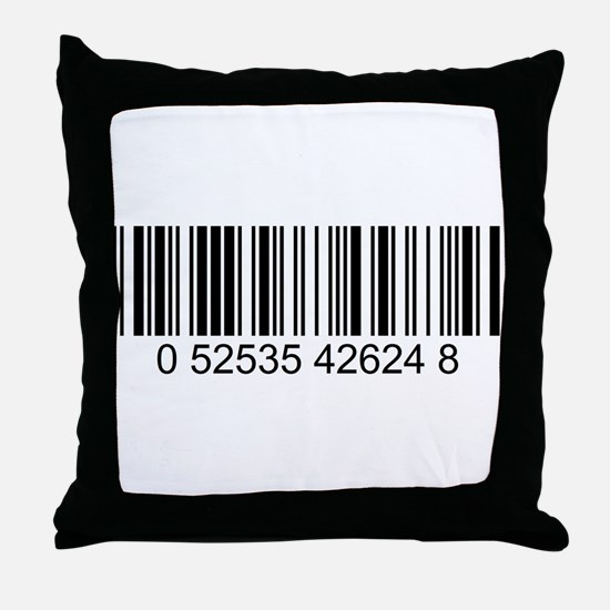 Barcode.png Throw Pillow