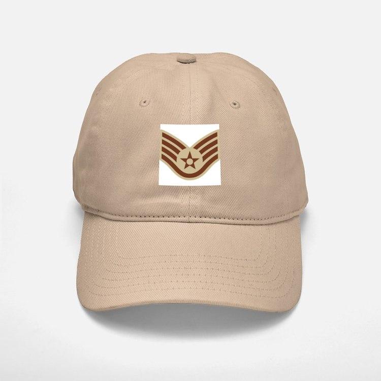 Staff Sergeant <BR>Khaki Baseball Baseball Cap