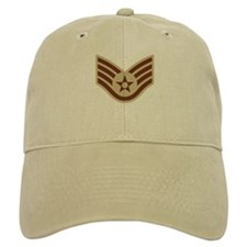 Staff Sergeant <BR>Khaki Baseball Cap