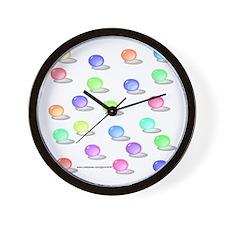 Retro Marbles Wall Clock
