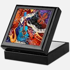 Jazz Music Guitar Piano Keepsake Box