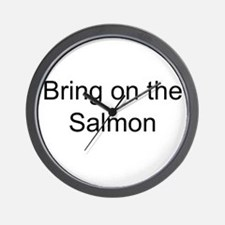 Bring on the Salmon Wall Clock