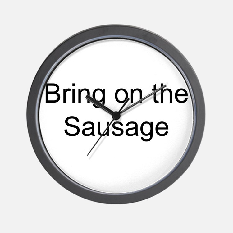 Bring on the Sausage Wall Clock