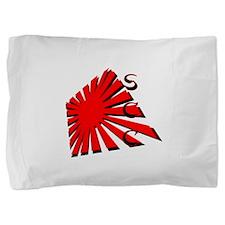Rising Sun1 RedBlk SCC.png Pillow Sham