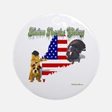 Maine Thanks Giving Ornament (Round)