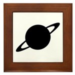 Saturn (Ringed Planet) Framed Tile