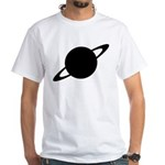 Saturn (Ringed Planet) White T-Shirt