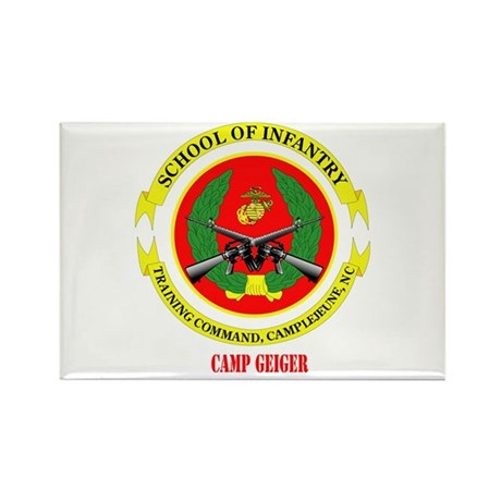 Camp Geiger with Text Rectangle Magnet